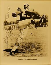 AUTOGRAPHED  NFL B & W 8 x 10 PHOTO   RON BURTON   OF THE NEW ENGLAND PATRIOTS
