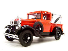 1931 FORD MODEL A TOW TRUCK RED 1:18 DIECAST CAR MODEL BY SIGNATURE MODELS 18116