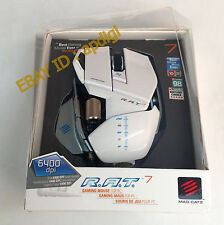 Mad Catz PC MCZ R.A.T. 7 rat  Gaming Mouse (WHITE)