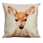 Cute Bambi Cotton Linen Pillow Case Sofa Waist Throw Cushion Cover Home Decor