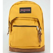 JanSport Right Pack Leather Suede Bottom Backpack Daypack Yellow Jacket TYP7 8WU