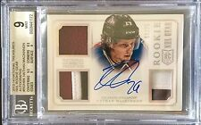 Nathan MacKinnon 13-14 National Treasures NHL GEAR AUTO PATCH Rookie BGS 9 MINT