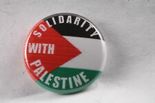 "Palestine Palestinian Solidarity Gaza West Bank FLag PLO 1"" Button Badge Pin"