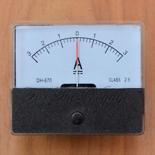 -3A to 0 to +3A DC Ammeter Amp Panel Meter Analogue Analog Internal Shunt 3-0-3
