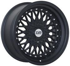 """RS STYLE Matte Black 17x10 4x100 Wheels Rims VW Jetta GTI BMW E30 Miata 4"""" LIP"""