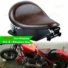Motorcycle Brown Leather Solo Seat Bracket Base Mounting Bobber Chopper Custom