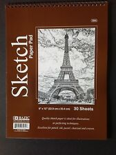 "9""x12""/ SKETCH PAPER PAD 30 Sheets~Ideal for PENCIL-PASTEL-CHARCOAL-Crayon"
