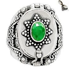 Poison - Emerald 925 Sterling Silver Ring Jewelry s.8.5 SR173264