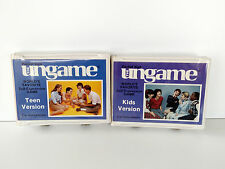 VTG 1989 THE UNGAME 2 games Teen Kids Version Pocket/Travel Size Car expression