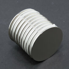 10 magneti al neodimio 30mm x 1mm DISC forte (conf. 10) NEODIMIO Neodym ADATTATORI