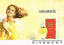 PUBLICITE ADVERTISING 094  1991  AMARIGE  eau de toilette femme de GIVENCY ( 2p)