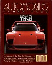 AUTOMOBILES CLASSIQUES n°21 AOÛT 1987 FERRARI SUPER AMERICA LOTUS SEVEN HISPANO