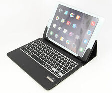 Ultra Slim iPad Air 2 Folio ABS Wireless Bluetooth Keyboard Case Station Black