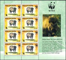 Philippines 1997 WWF/Pigs/Animals/Nature/Wildlife/Conservation 8v sht (b7205)