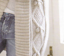 Knitting Pattern- Ladies cable aran  bobble Jacket - fits chest 32-54 inches