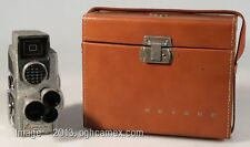 REVERE EYE-MATIC SPOOL 8MM MOVIE CAMERA WITH CASE. ART DECO