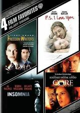 NEW HILARY SWANK 4 FILM DVD FREEDOM WRITERS PS I LOVE YOU INSOMNIA CORE FREE S&H