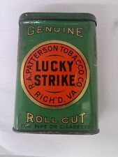 VINTAGE ADVERTISING LUCKY STRIKE TOBACCO  VERTICAL POCKET TIN   254-U