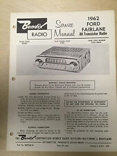 Bendix Service Manual for 1962 Ford Fairlane Radio R2TBO C2OZ-18805B ~  Original