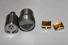 8mm Square Pyramid Studs Setting Tool Die Mold for Hand Press Grommet Machine