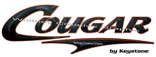 """"""" COUGAR""""  RV  Blk Vers Graphic Lettering Decal 35.5"""" X 11"""" Made fresh."""