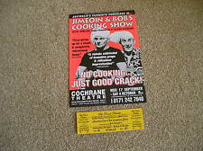 JIMEOIN & BOB FRANKLIN - The Cooking Show Lovely tour flyer (MINT) + ticket