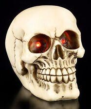 Totenkopf mit blinkenden LED Augen - Schädel Deko Figur Totenschädel Horror
