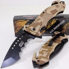 MTech Xtreme Ballistic Serrated Rescue Linerlock Pocket Spring Assisted Knife DM