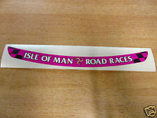 Isle of Man Road Races - TT Visor Decal Sticker - PINK