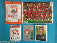 PANINI EURO 2008 AUSTRIA-SWITZERLAND EM 08 TEAM PORTUGAL COMPLETO