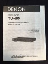 Denon TU-460 Tuner Original Owners Manual tu460 A16