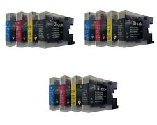 12 ink cartridges replaces Brother LC-1220 LC1220 LC 1220 LC-1240 1240 -1240