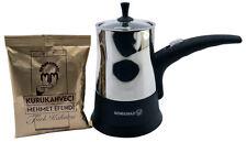 Korkmaz Vision Edelstahl Elektrisch Türkisch Kaffeemaschine mit 3