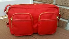 Olivia + Joy Nylon Red Crossbody Messenger Shoulder Bag Purse