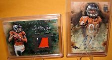 CODY LATIMER - 2014 Inception RC Worn 3 Color Patch /75 & RC Auto - 2pc Broncos