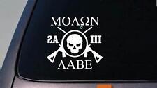 2A MOLON LABE three percenter sticker ar *E390* decal 2nd amendment obama