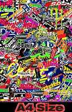Custom Race Sticker Bomb Sheet A4 size High Quality Vinyl Wrap RC Car Drift