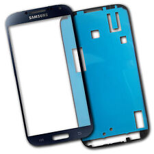 Lens Screen Outer glass for Samsung Galaxy S4 i9500 i9505 Black with Adhesive