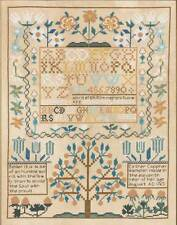 Bucilla Cross Stitch Kit Heirloom Collection Esther Copp 1765 Sampler #45960 NEW