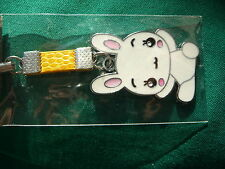 WHITE RABBIT MOBILE PHONE/PURSE CHARM BRAND NEW
