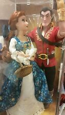 New Disney Store Fairytale Designer Limited Edition Doll Belle & Gaston