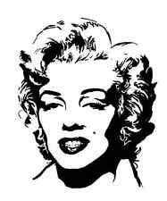 '''MARILYN MONROE'' DECAL STICKER HOME BIKE CAR LAP TOP