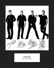 WESTLIFE #2 10x8 SIGNED Mounted Photo Print - FREE DELIVERY
