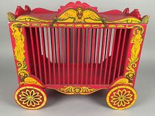 Antique Lansdown Toy Circus Wagon - Hand Painted Lions Maidens