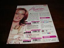 KYLIE MINOGUE CAN'T GET OUT!!!!!!!RARE FRENCH PRESS/KIT
