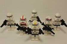 Lego Star Wars 6 CLONE TROOPERS- SHOCK, STAR CORP- 7655 7250  minifig minifigure