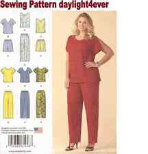 Women Blouse Top Pants Shorts Simplicity Sewing Pattern 1446 New Size 26W-32W q