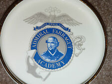 "Rare 7"" ADMIRAL FARRAGUT ACADEMY Collectible Dish Ashtray LOUIS BAIDA Militaria"