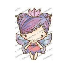 FAIRY QUEEN ANYA-The Greeting Farm Cling Rubber Stamp-Stamping Craft-RETIRED