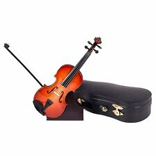 Miniature Musical Instrument -Violin Miniature with Stand & Case 7 Inches (CV18)